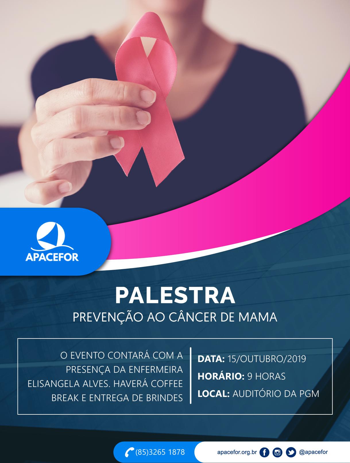 APACEFOR promoverá manhã de sensibilização contra o Câncer de Mama