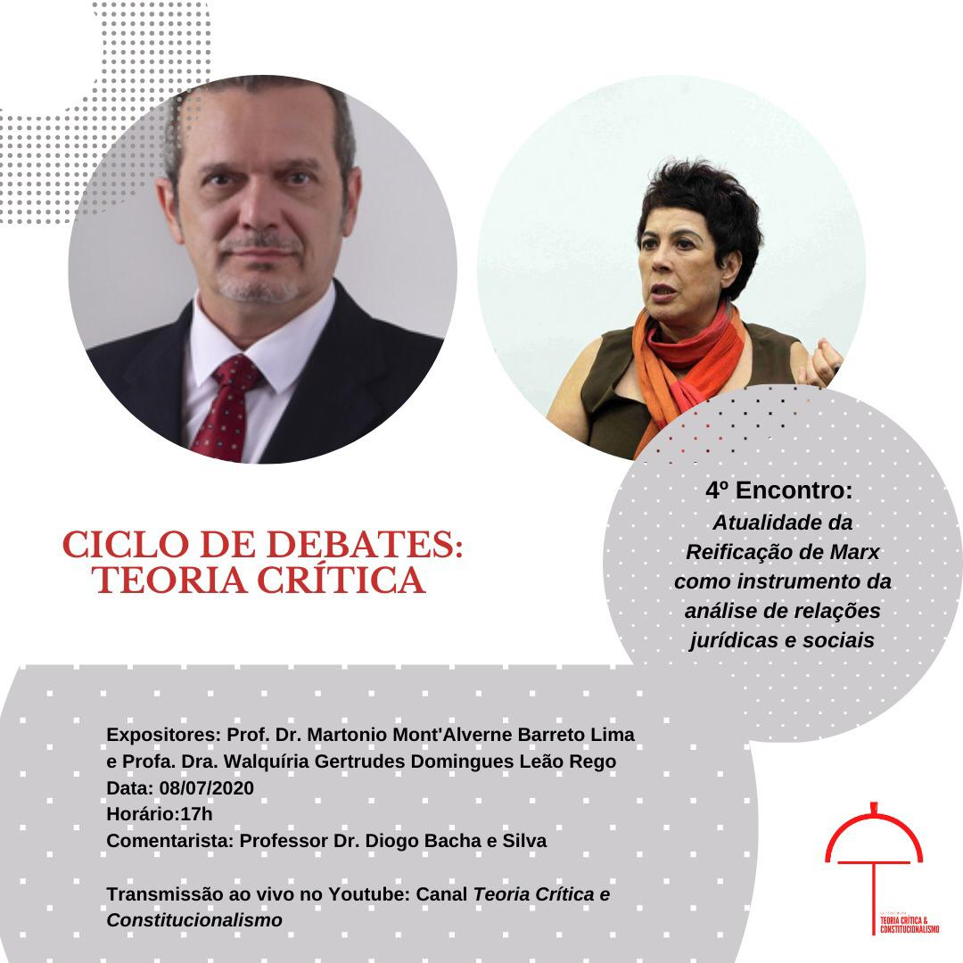 Ciclo de Debates do Grupo de Estudos em Teoria Crítica e Constitucionalismo da UFMG
