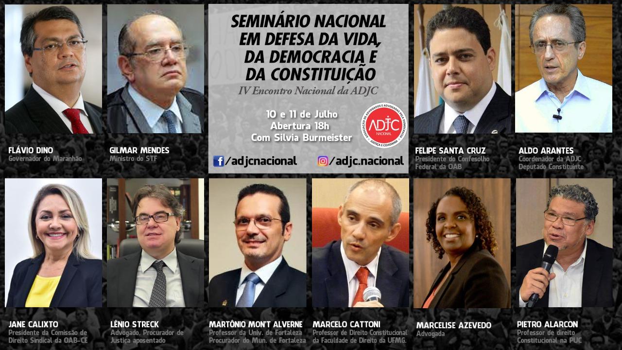 Seminário Nacional que reunirá importantes nomes da justiça brasileira terá participação do Presidente da APACEFOR, Dr. Martônio Mont'Alverne